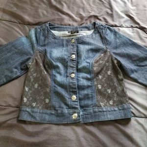 NWT Ashley Stewart size 10 denim jacket,